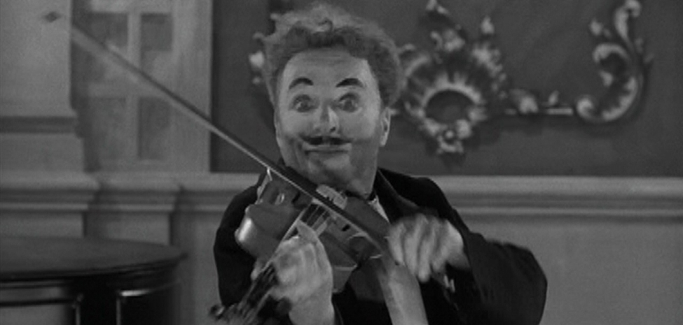 Chaplin playing the violin in Limelight