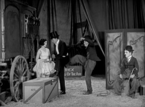 Merna Kennedy, Harry Crocker & Chaplin in The Circus