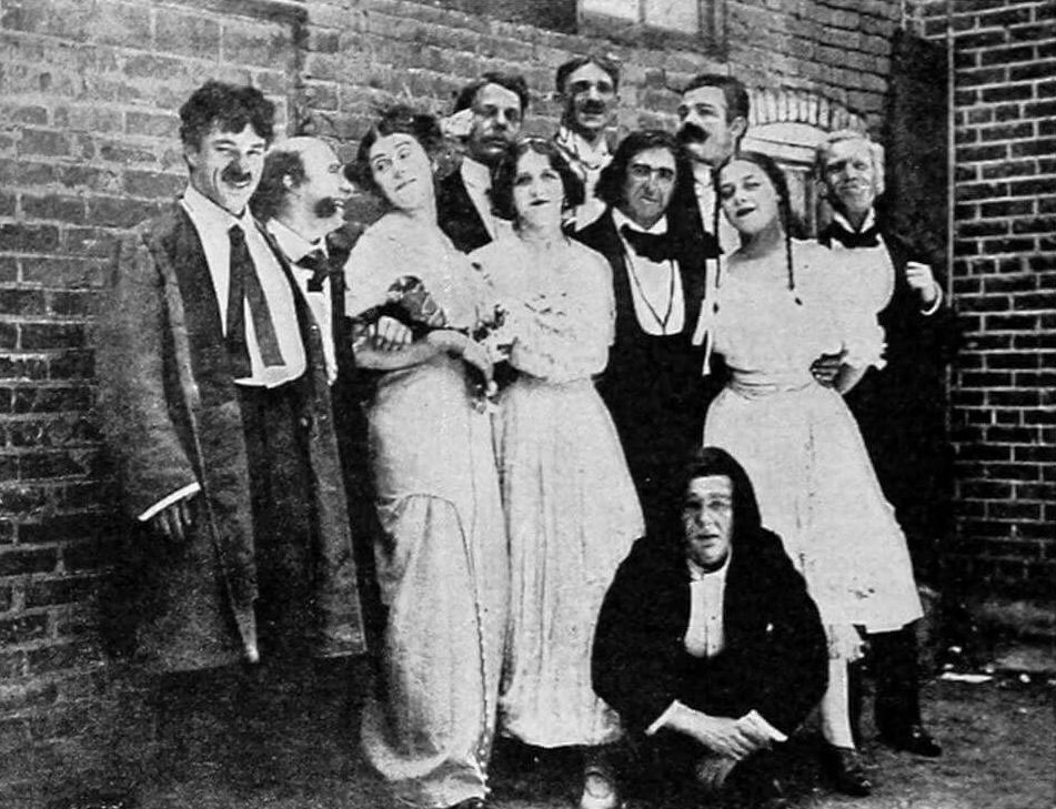 Chaplin with the Karno troupe